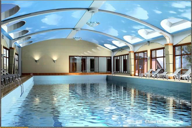 北京某会所室内游泳馆-姚奇的设计师家园-休闲健身会所