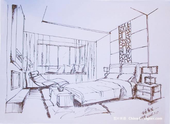 《卧室草图》-设计师:黄拥军.设计师家园-铭空间-#与