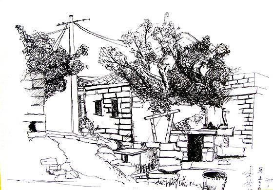 泉州老建筑手绘
