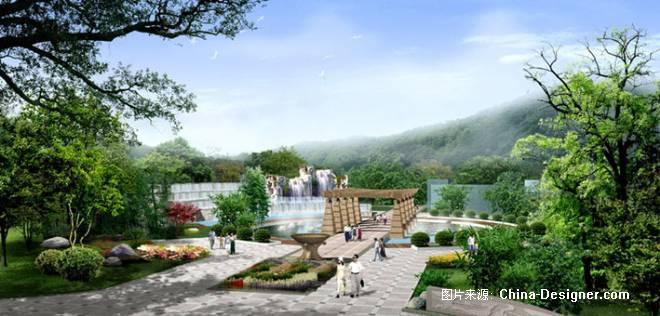 南京聚宝山公园入口透视-程琳的设计师家园-公园广场