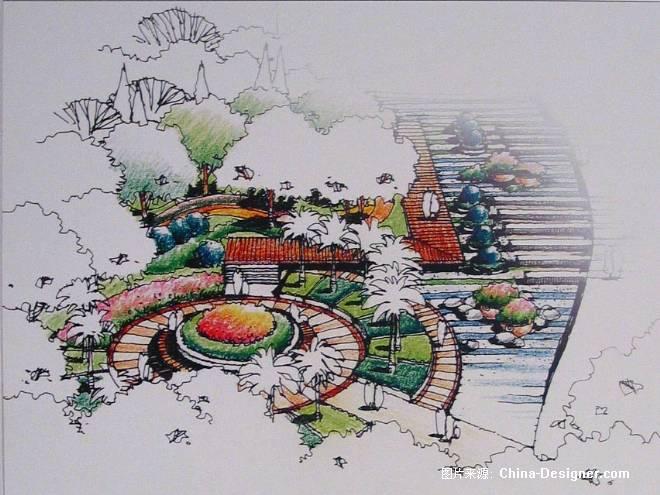 校园小广场景观设计手绘_图片素材图片