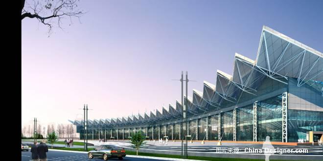 义乌会展中心-郑州清水建筑画设计有限公司的设计师
