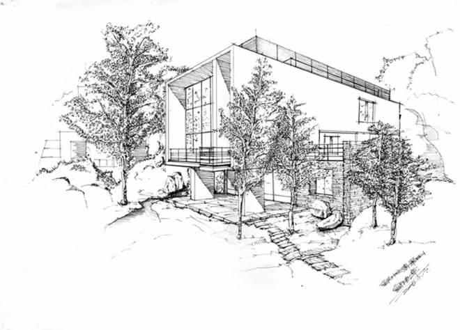 重庆名建筑手绘