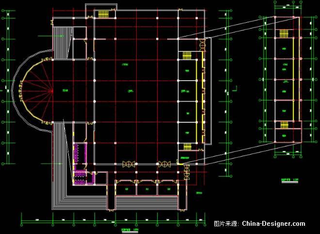 秦皇岛东北大学学生活动中心-古钟之声的设计师家园