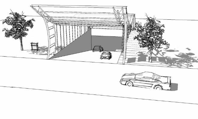某广场地下停车库入口设计-蔡伟杰的设计师家园-公园