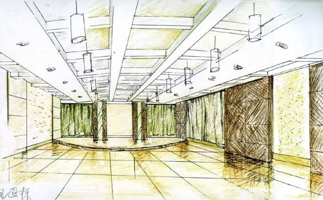 多功能厅室内手绘