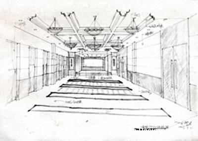 手绘大会议室方案