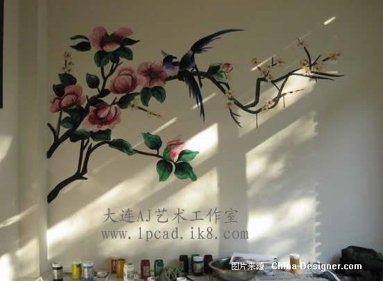 大连桐聚缘烤肉室内手绘墙画-赵先生的设计师家园-新古典,温馨,1-5万