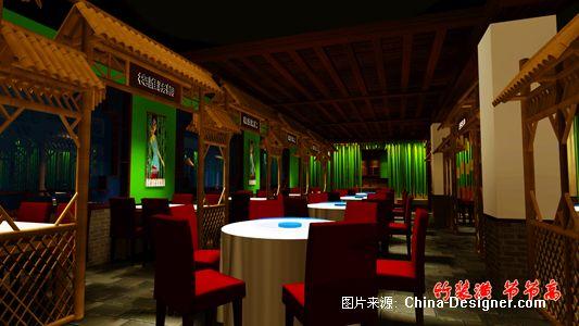 餐饮空间-竹装潢 节节高的设计师家园-竹子,效果图,餐饮空间