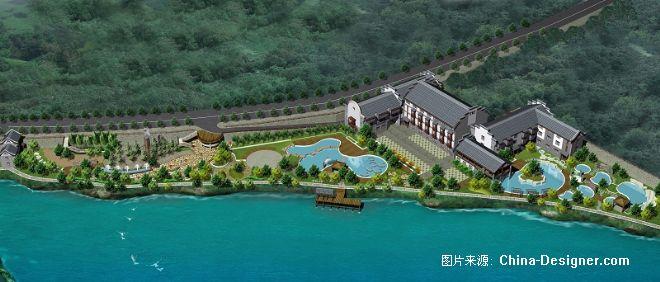 潘召南 四川美术学院 东泉旅游广场 环境鸟瞰图图片