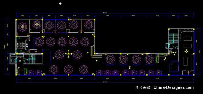 中餐厅平面布置图