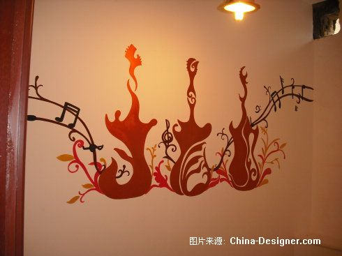 手繪裝飾,西安手繪墻畫