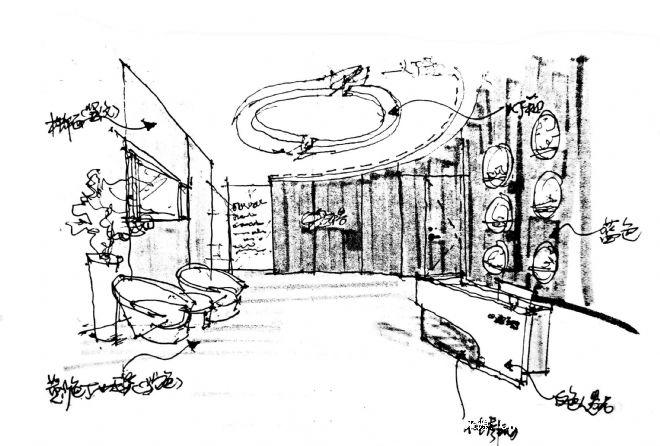 商场展示空间手绘图