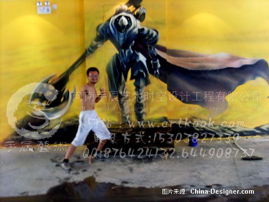 电玩城墙体彩绘壁画-手辰(郭振中)的设计师家园-墙体彩绘 手绘墙 墙绘