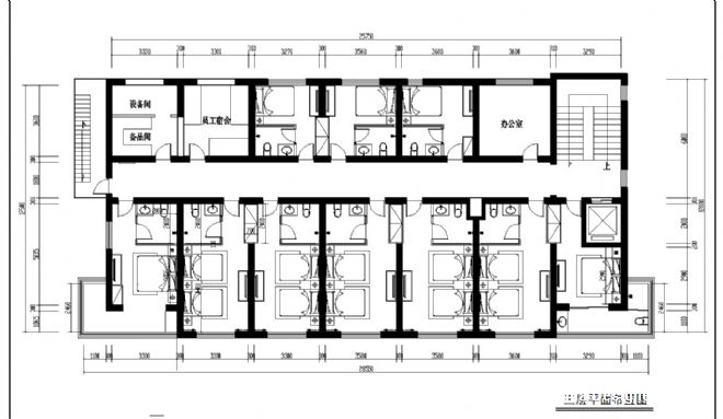 高层旅馆设计平面图;
