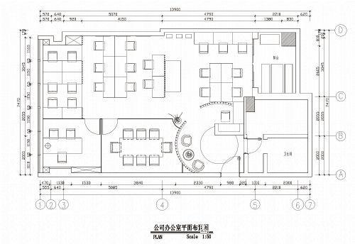 广州道胜设计有限公司办公室平面图