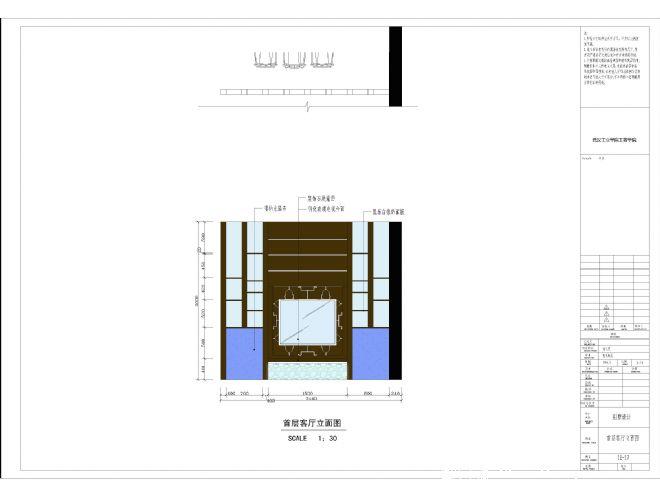 二楼别墅立面图