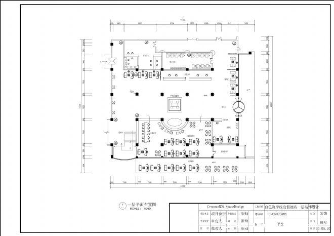 前厅大堂布局平面图