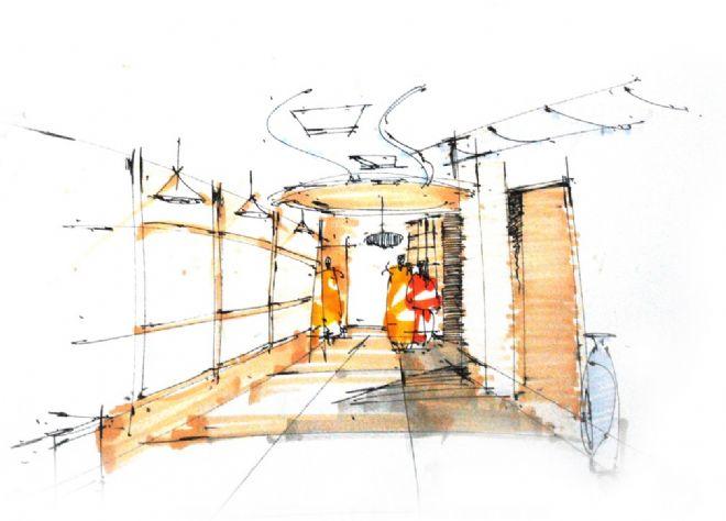 走廊手绘1