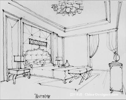 室内设计手绘家具速写