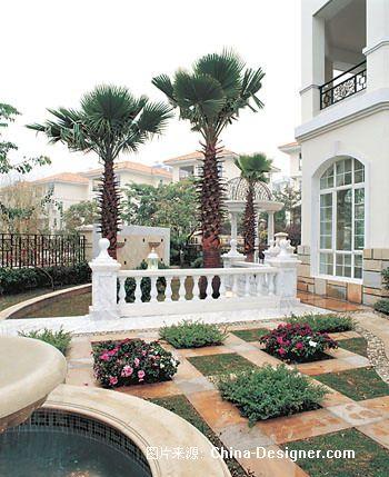 欧式别墅庭院景观设计-武汉克洛伊园林景观有限公司