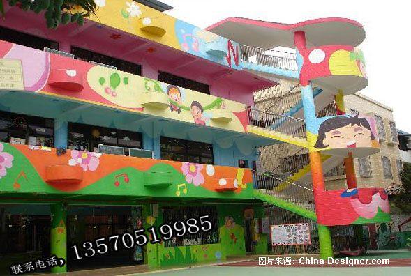 幼儿园墙画装饰-专业墙画室外内装饰佛山市灵动力创图片