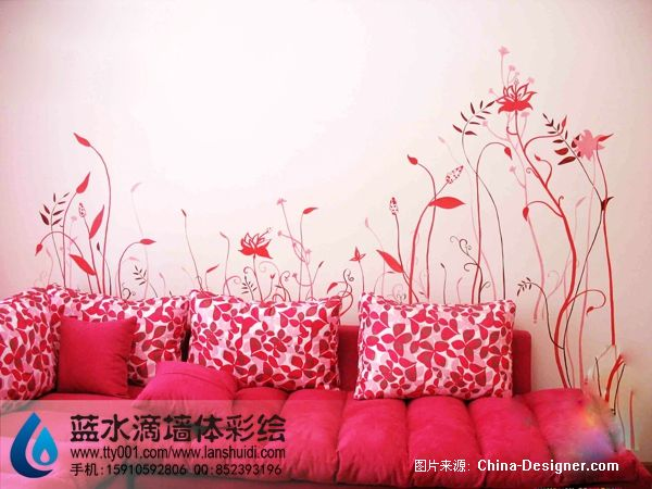 北京手绘墙 六里屯手 北京手绘墙公司的设计师家园 北京手绘墙的设计