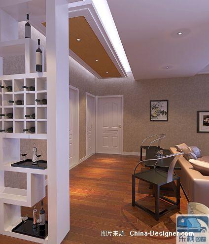 宇华中央名苑-张帝的设计师家园-1-5万,三居,客厅,棕色,沉稳