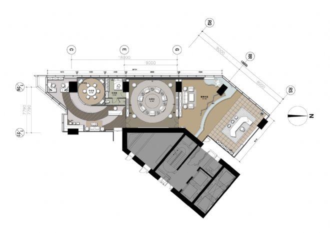 办公室平面水电路系统设计图