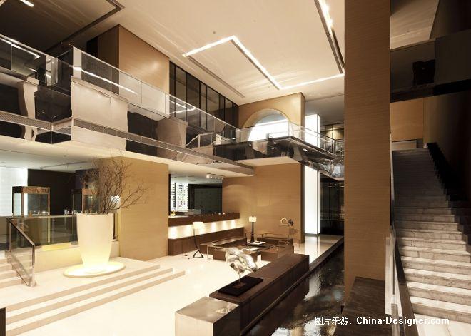 创意亚洲综合楼室内设计-满堂贵金属展示厅-余霖的设计师家园-棕色