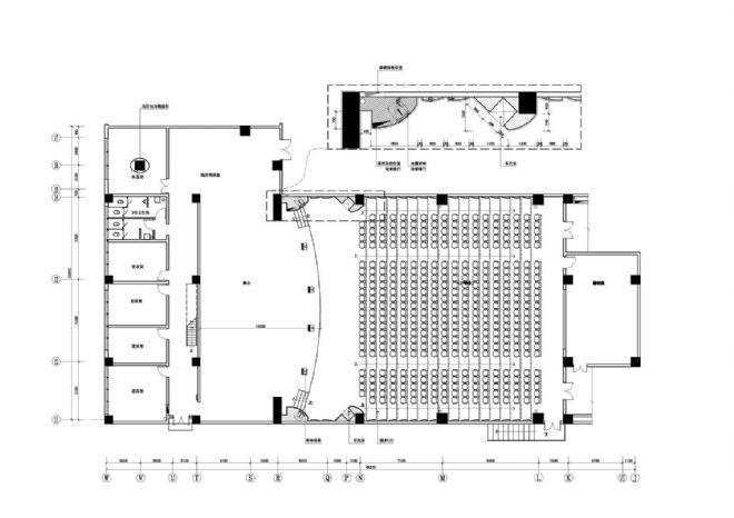 多功能厅施工图平面 -四川省教育学院艺术教学大楼图片