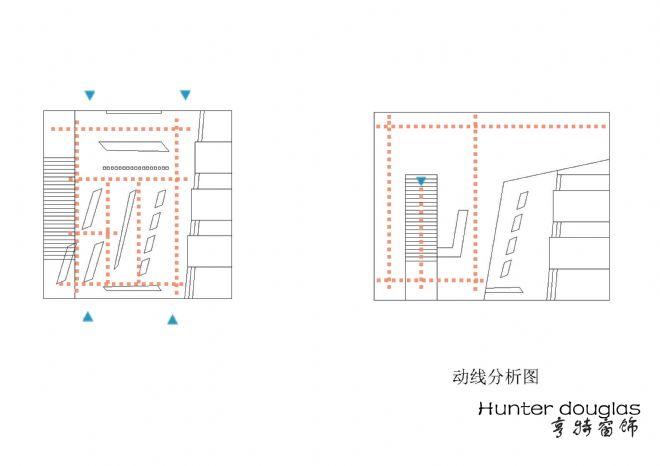 展厅手绘平面及分析图