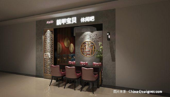 美甲店装修设计-安志远的设计师家园-美甲,新中式