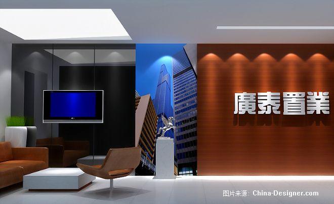 济南广泰置业办公室设计-尹康明的设计师家园-沉稳