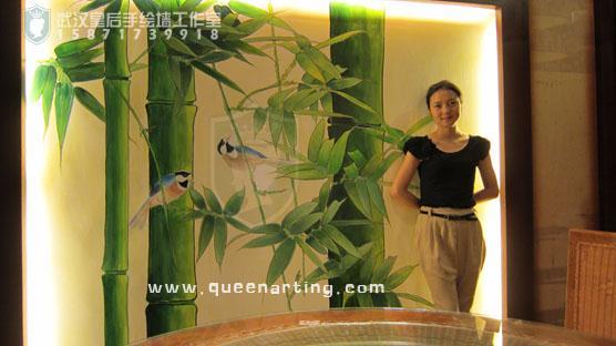 武汉皇后手绘艺术装饰|手绘墙|壁画|油画|软装|软配