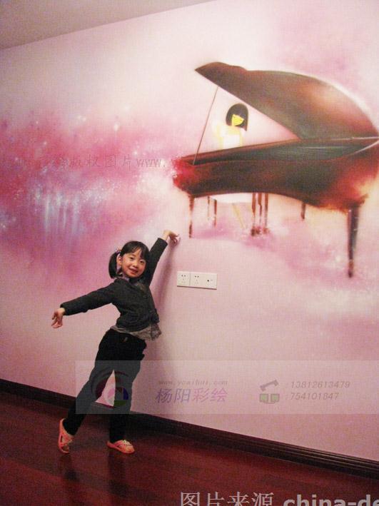 扬州儿童房手绘墙,瘦西湖鼎苑唯美梦幻墙绘-杨阳的设计师家园-杨州
