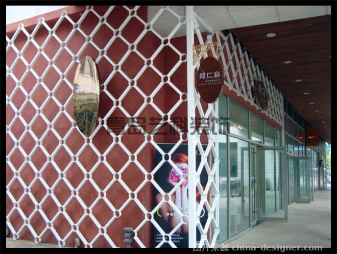 青岛商铺装修门面设计 青岛郑仁彩美发店; 青岛艺科晟装饰设计工程