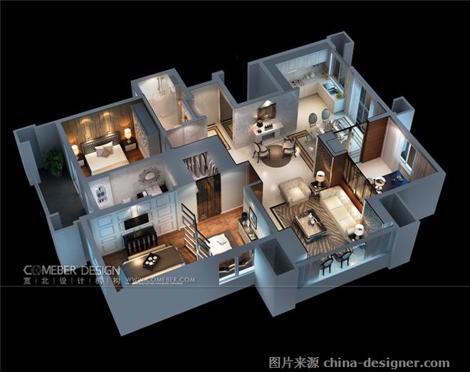 ��山馨园样板房A户型-许娜的设计师家园-住宅公寓样板间