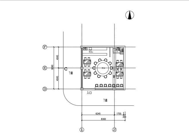 咖啡厅cad电路布置图