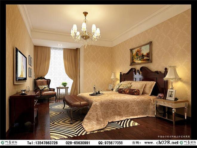 欧式风格装修图片-风生水起室内设计机构的设计师家园-现代欧式,卧室