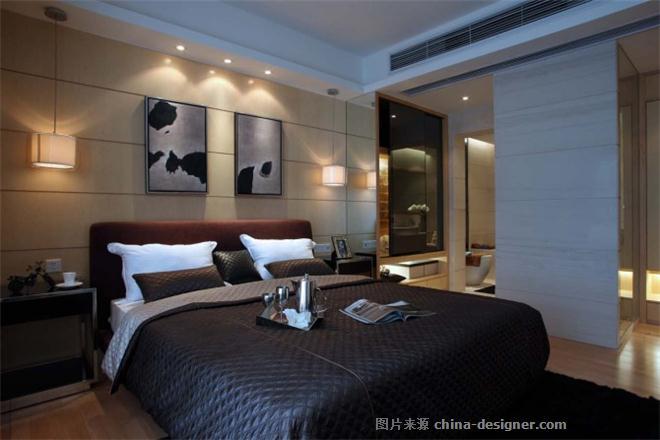 广东中海万锦东园陈先生雅居-刘鹏的设计师家园-现代简约,三居