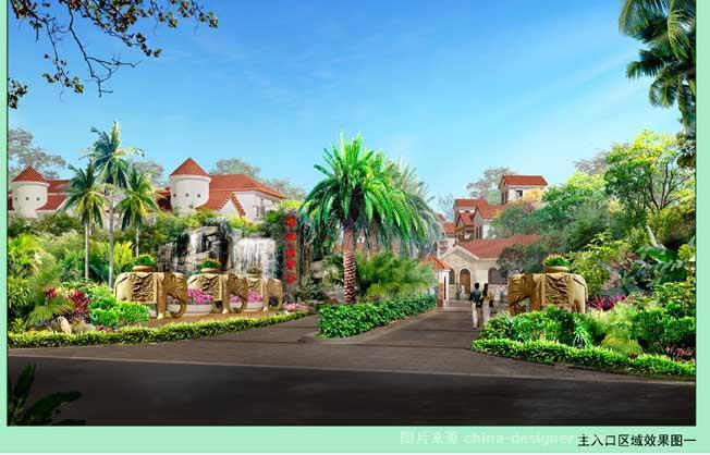 三亚 申亚 翡翠谷花园小区景观-邢灵敏的设计师家园-东南亚风格