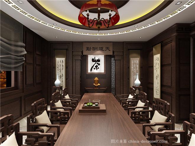 金铭仕茶楼-伍工的设计师家园-新中式,茶室/茶馆/茶社