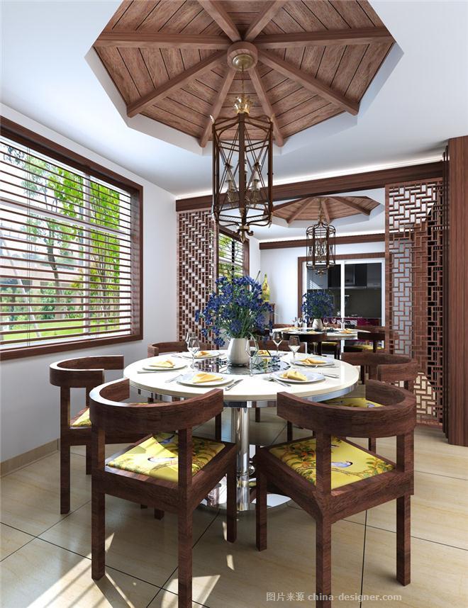 温泉木屋二期方案-张根良的设计师家园-新中式,联排别墅,花园图片