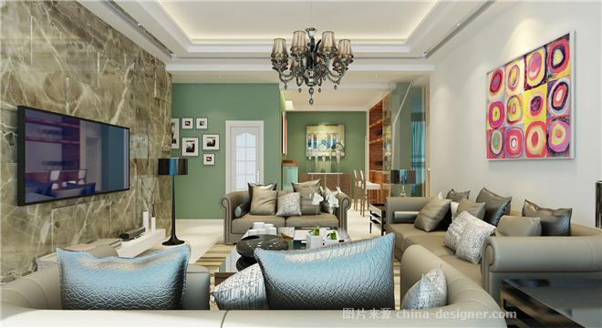金晨蓝湾-伍和平的设计师家园-三居