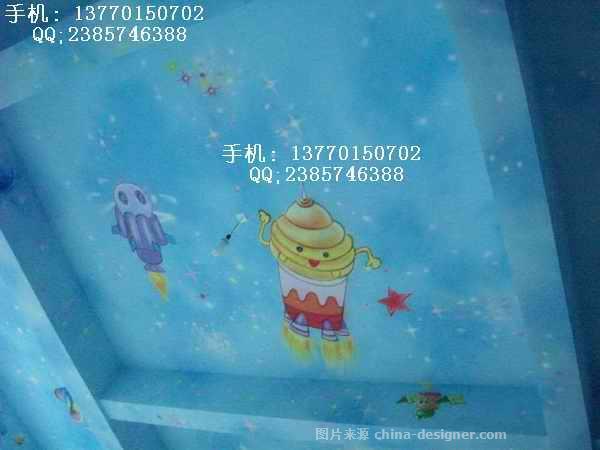 幼儿园环境布置墙体装饰墙壁画彩绘宇宙星空-射阳县兴桥镇大林喷绘图片