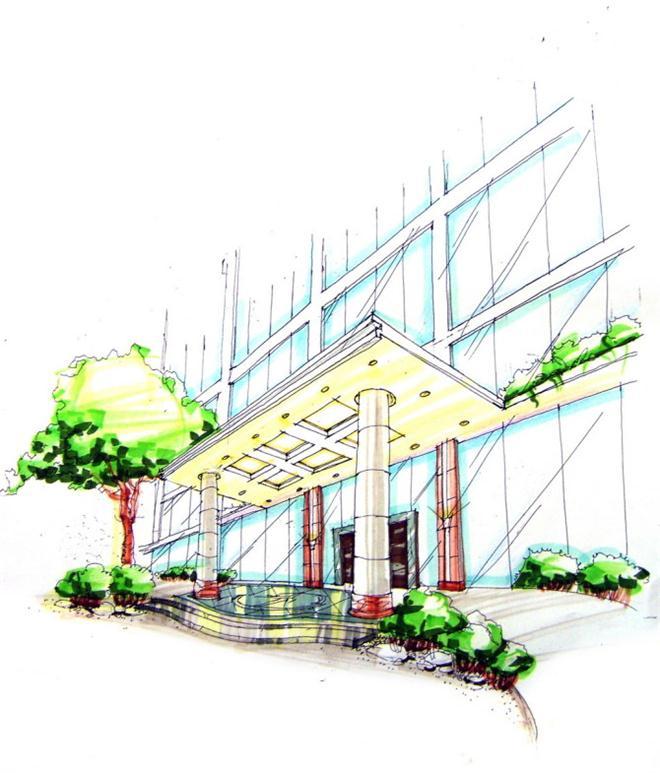 景观设计(手绘)-陈小科的设计师家园-城市绿地