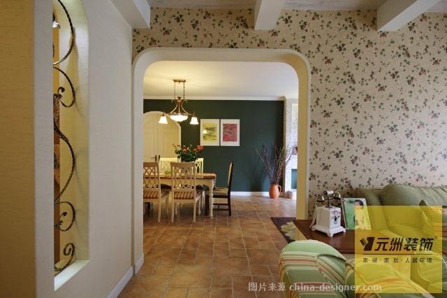 190平米优雅欧式、田园混搭实景-北京元洲装饰有限责任公司的设计师家园-现代欧式,田园风格,四居及以上