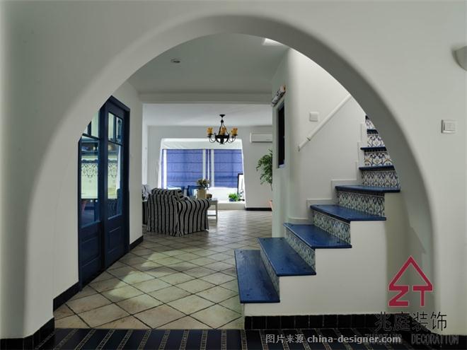金色花园地中海风格室内装饰-上海兆庭建筑装饰工程有限公司的设计师家园-地中海风格,独栋别墅