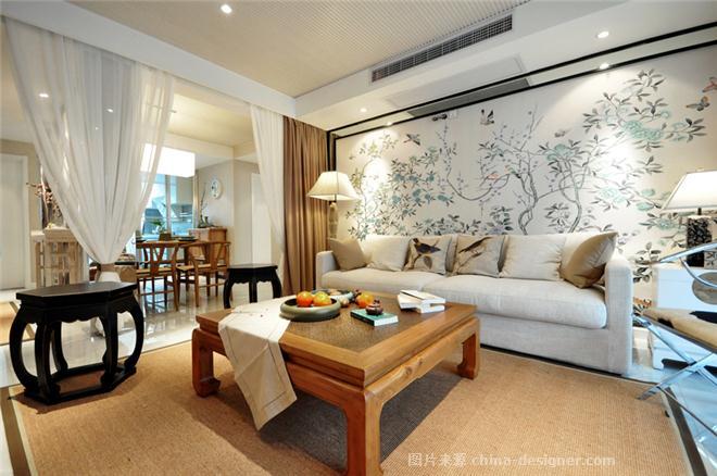 禅茶一味-夏伟的设计师家园-两居,新中式,原生态,棕色,其他气氛,简约大气,闲静轻松,沉稳庄重,黄色,灰色,白色